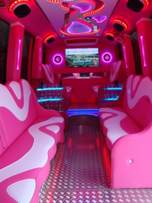 pink limo bus bournemouth